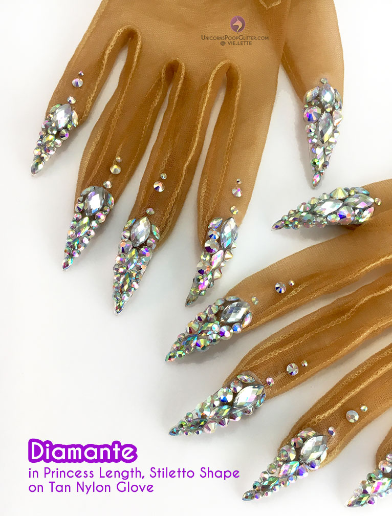 Diamante – Nail Gloves – Unicorns Poop Glitter