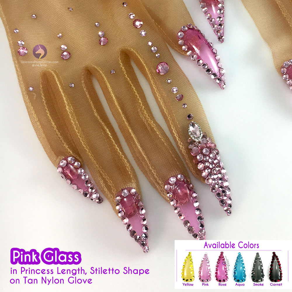 Stained Glass – Nail Gloves – Unicorns Poop Glitter