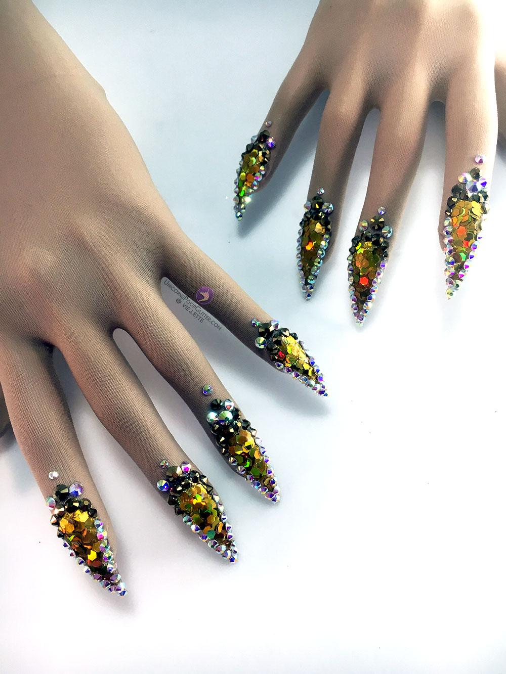 Disco Ball – Nail Gloves – Unicorns Poop Glitter