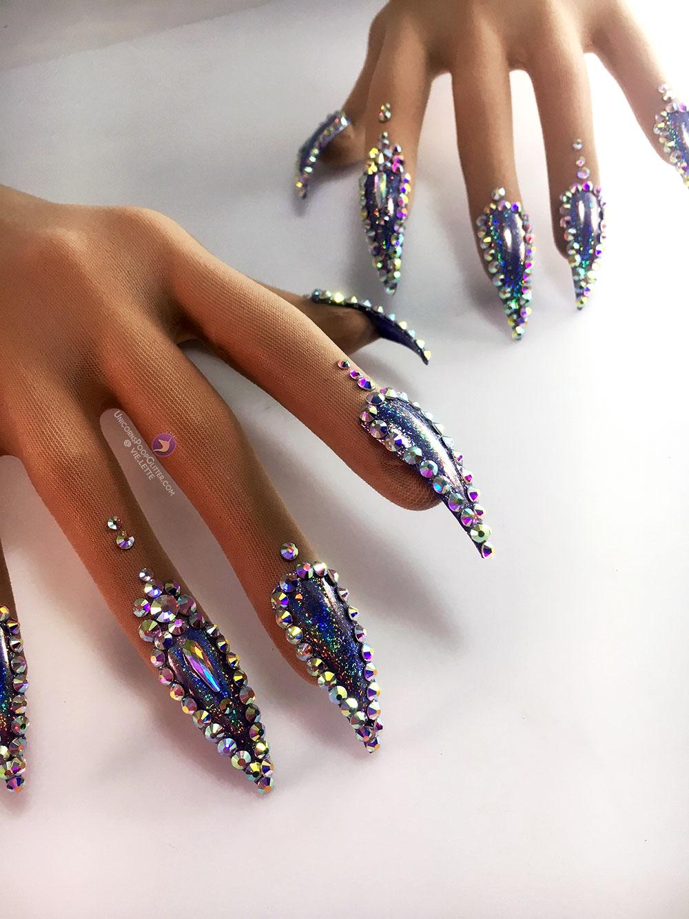 Glitter Holo – Nail Gloves – Unicorns Poop Glitter